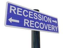 Ripristino di recessione Immagini Stock Libere da Diritti