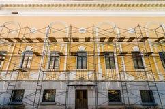 Ripristino di vecchia costruzione Fotografia Stock Libera da Diritti