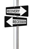 Ripristino o recessione Fotografie Stock Libere da Diritti