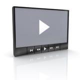 Riproduttore video Immagini Stock