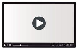 Riproduttore video per il Web Immagini Stock