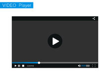 Riproduttore video per il web, illustrazione Modello, tamplate Fotografie Stock Libere da Diritti