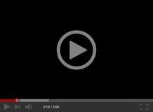 Riproduttore video per il Web Interfaccia del riproduttore video Immagini Stock Libere da Diritti