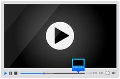 Riproduttore video per il web, progettazione minimalistic Fotografie Stock Libere da Diritti