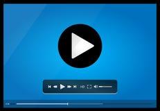Riproduttore video per il web, progettazione minimalistic Immagine Stock