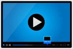 Riproduttore video per il web, progettazione minimalistic Fotografia Stock Libera da Diritti