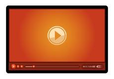 Riproduttore video rosso Immagini Stock Libere da Diritti