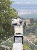Riproduzione di un balista in Les Baux-de-Provenza, Francia Immagine Stock