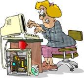 Riprogrammatore della donna Immagini Stock