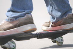 Ripstick. The new kid at the skate park. you think 4 wheels are tough Stock Photography