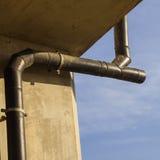 Ripulisca (CO) per il sistema del tubo di scarico del polietilene ad alta densità (HDPE) Fotografie Stock