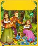 Riquet do topete - príncipe ou princesa - castelos - cavaleiros e fadas - ilustração para as crianças Fotografia de Stock