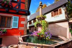 Riquewihr, Эльзас, Франция Стоковые Фотографии RF