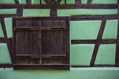 Riquewihr. (Alsace, France) - details of ancient tavern, in a typical old building Stock Photo