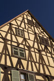 Riquewihr. (Alsace, France) - details of ancient tavern, in a typical old building Royalty Free Stock Images
