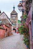 Riquewihr, Alsácia, França imagem de stock