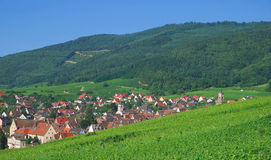 Riquewihr,Alsace. View of the famous village of riquewihr in alsace,france Royalty Free Stock Photos