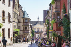 Riquewihr, Alsace, France. Very high resolution, 42.2 megapixels Stock Image