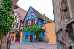 Riquewihr Alsace, Frankrike Arkivbild