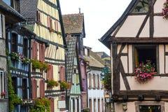 Riquewihr (Alsace) - gammala hus Royaltyfria Bilder