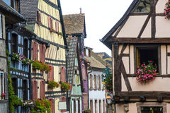 Riquewihr (Alsace) - Old houses Royalty Free Stock Images