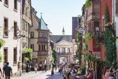 Riquewihr, Alsacia, Francia Imagen de archivo