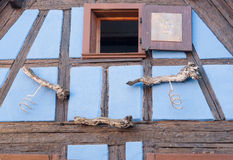 Riquewihr. Architectural detail in Riquewihr, a town in Alsace, France Royalty Free Stock Photos