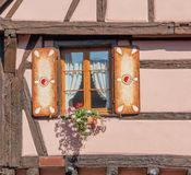 Riquewihr. Architectural detail in Riquewihr, a town in Alsace, France Royalty Free Stock Images