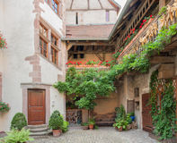 Riquewihr. Architectural detail in Riquewihr, a town in Alsace, France Royalty Free Stock Image