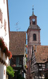 Riquewihr church tower Royalty Free Stock Photo