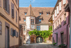 Riquewihr. City view of Riquewihr, a town in Alsace, France Stock Photos
