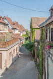 Riquewihr. City view of Riquewihr, a town in Alsace, France Stock Photo