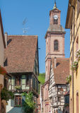 Riquewihr. City view of Riquewihr, a town in Alsace, France Stock Image