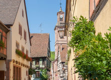 Riquewihr. City view of Riquewihr, a town in Alsace, France Royalty Free Stock Images