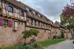 Riquewihr city wall, Alsace, France Stock Images