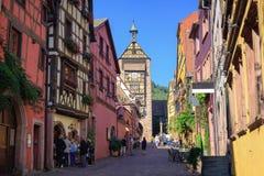 Riquewihr, de Elzas, Frankrijk Stock Foto's