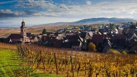 Riquewihr en Alsacia en Francia imagenes de archivo