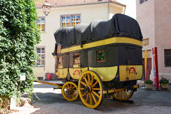 Riquewihr France, stagecoach Royalty Free Stock Photo