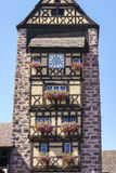 Riquewihr France, Window with flowers Stock Image