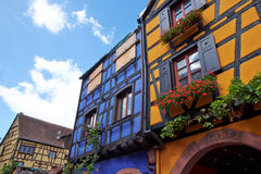 Free Riquewihr France, Window With Flowers Stock Photography - 43775702