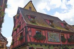 Riquewihr Francia immagini stock