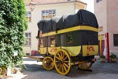 Riquewihr Frankreich, Stagecoach Lizenzfreies Stockfoto