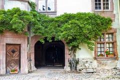 Riquewihr (l'Alsazia) - vecchia casa Fotografie Stock Libere da Diritti