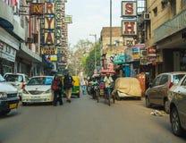 Riquexós de Tuk Tuk em Deli durante o dia Imagem de Stock Royalty Free