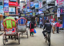 Riquexós em Kathmandu Imagem de Stock Royalty Free