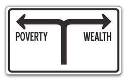 Riqueza & pobreza ilustração royalty free