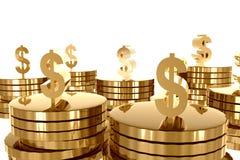Riqueza do dinheiro e do ouro Imagens de Stock