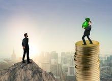 Riqueza, renda e conceito da finança Fotografia de Stock