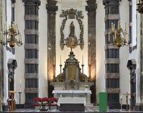 Riquezas-Claires auxiliares de Notre-Dame da igreja, Bruxelas Fotos de Stock Royalty Free