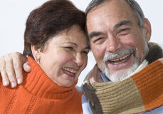 Rire aîné de couples image libre de droits